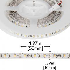 2835 White High-CRI LED Strip Light - LED Tape Light w/ Plug-and-Play LC2 Connectors - 12V - IP20 - 221 Lumens/ft