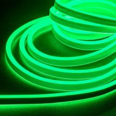 16ft LED Neon Rope Light Kit - Dual Sided LED Neon Rope Light - 120V - IP65 - Green