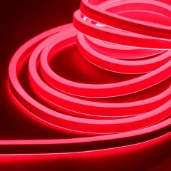 16ft LED Neon Rope Light Kit - Dual Sided LED Neon Rope Light - 120V - IP65 - Red