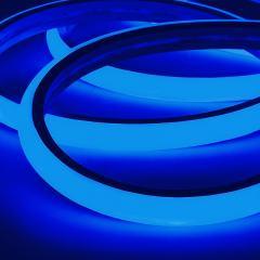 LED Neon Strip Light - 5m Top Bend Neon Flex  - 24V - IP65 - Blue