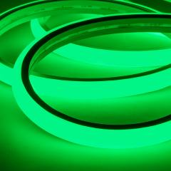 LED Neon Strip Light - 5m Top Bend Neon Flex  - 24V - IP65 - Green