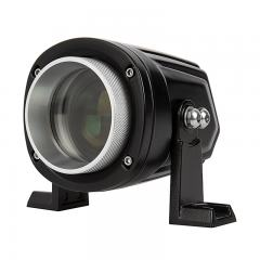 "LED Laser Light Pod - 3"" Round - Side Mount Brackets - 11W - 1000 Lumens"