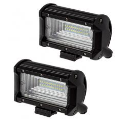 "5"" Off-Road LED Light Bars with Slide Mounts - 36W Flood - 1,500 Lumens - 2 Pack"