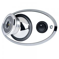 Adjustable LED Map/Dome Light w/ Switch - Chrome Plated