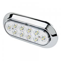 "Oval LED Back-Up Truck and Trailer Light - 6"" LED Reverse Light w/ 10 LEDs - Pigtail Connector"
