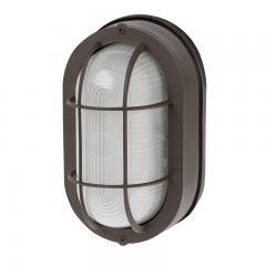 12W LED Outdoor Bulkhead Wall Light - Bronze - 780 Lumens - 3000K/4000K