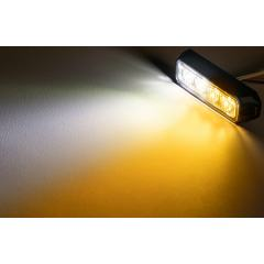 """4"""" Grille and Surface Mount LED Strobe Light Head - 12W"""