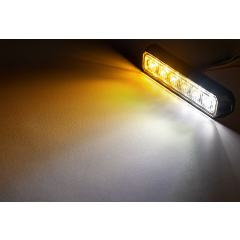 """5"""" Grille and Surface Mount LED Strobe Light Head - 18W"""
