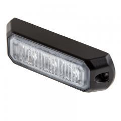 Vehicle LED Mini Strobe Light Head w/ Built-In Controller - 3 Watt - Surface Mount