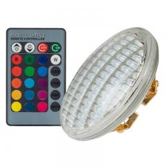 RGB PAR36 LED Flood Light Bulb - Color Changing LED Lighting - IR Remote - 9W - Waterproof IP68