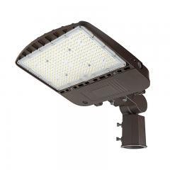 200W LED Parking Lot Light - Shoebox Area Light - 28000 Lumens - 400W MH Equivalent - 5000K - Knuckle Slipfitter Mount