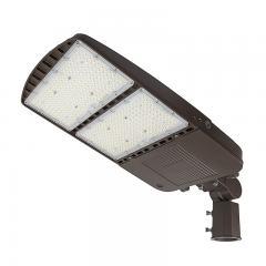 240W LED Parking Lot Light - Shoebox Area Light - 33600 Lumens - 750W MH Equivalent - 5000K - Knuckle Slipfitter Mount