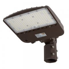 150W LED Parking Lot Light - Shoebox Area Light - 21000 Lumens - 320W MH Equivalent - 5000K - Knuckle Slipfitter Mount