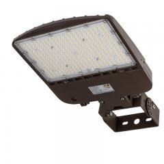 200W LED Parking Lot Light - Shoebox Area Light - 28000 Lumens - 400W MH Equivalent - 5000K - Trunnion Wall/Surface Mount
