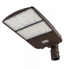 300W LED Parking Lot Light - Shoebox Area Light - 42000 Lumens - 1000W MH Equivalent - 5000K - Knuckle Slipfitter Mount