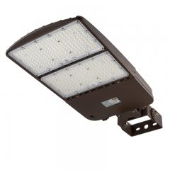 300W LED Parking Lot Light - Shoebox Area Light - 42000 Lumens - 1000W MH Equivalent - 5000K - Trunnion Wall/Surface Mount