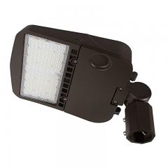 100W LED Parking Lot/Shoebox Area Light - 277-480 VAC - 14,000 Lumens - 250W MH Equivalent - 5000K - Knuckle Slipfitter Mount