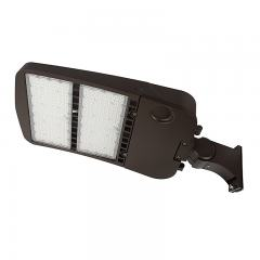 300W LED Parking Lot/Shoebox Area Light - 277-480 VAC - 40,700 Lumens - 1000W MH Equivalent - 5000K - Pole Knuckle Mount