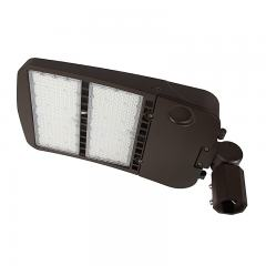 300W LED Parking Lot/Shoebox Area Light - 277-480 VAC - 40,700 Lumens - 1000W MH Equivalent - 5000K - Knuckle Slipfitter Mount