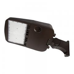 200W LED Parking Lot/Shoebox Area Light - 277-480 VAC - 26,900 Lumens - 750W MH Equivalent - 5000K - Pole Knuckle Mount