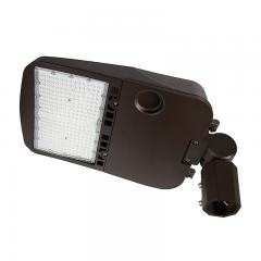 200W LED Parking Lot/Shoebox Area Light - 277-480 VAC - 26,900 Lumens - 750W MH Equivalent - 5000K - Knuckle Slipfitter Mount