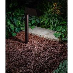 "Landscape LED Path Lights w/ Offset 5"" Square Light Head - 1 Watt"