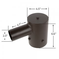 """Tenon Adapter for 4"""" Round Poles - (1) Horizontal Tenon"""