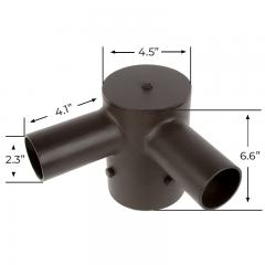 "Tenon Adapter for 4"" Round Poles – (2) Horizontal 90° Tenons"