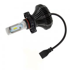 Motorcycle PSX24W LED Fanless Headlight Conversion Kit with Compact Heat Sink - 2,000 Lumens