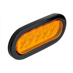 "Oval LED Truck and Trailer Turn Signal Lights - 6"" LED Sequential Arrow Turn Lights - 3-Pin Connector - Flush Mount - 35 LEDs"