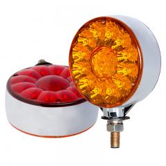 "Round LED Pedestal Truck and Trailer Lights - 4"" Double Face Brake/Turn/Tail Lights - Pedestal Mount"