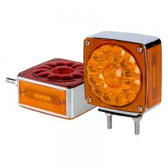 "Square LED Pedestal Truck and Trailer Lights - 4.25"" Double-Face Brake/Turn/Clearance/Tail Lights - Pedestal Mount"
