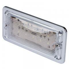 "5.75"" Rectangular LED Dome Light Fixture w/ Chrome Housing - 30 Watt Equivalent - 275 Lumens"