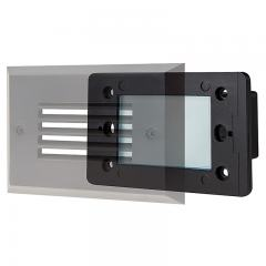 12V LED Step Lights - Louver Rectangular Deck / Step Accent Light with Faceplate - 55 Lumens