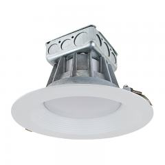 "8"" Recessed LED Downlight w/ Built-In Junction Box and Baffle Trim - 190 Watt Equivalent - Dimmable - 2,800 Lumens"