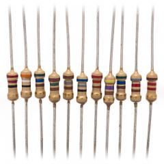 1/4 Watt Carbon Film Resistors - Through Hole