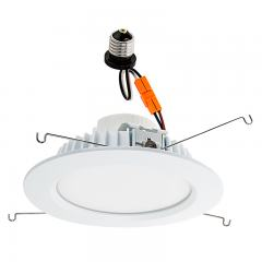 "LED Recessed Lighting Kit for 6"" Cans - Retrofit LED Downlight w/ Open Trim - 100 Watt Equivalent - Dimmable - 1,500 Lumens"