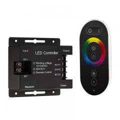 RGB LED Controller - Wireless RF Touch Color Remote with Dynamic Color-Changing Modes - 8 Amps/Channel