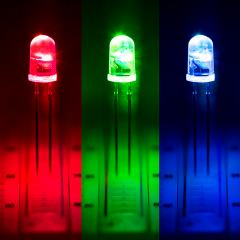 5mm Fast Color Changing LED - T1 3/4 RGB LED w/ 30 Degree Viewing Angle