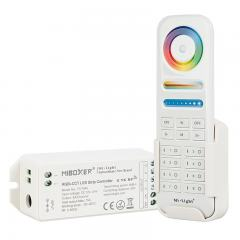 MiBoxer Color-Changing RGB+Tunable White LED Controller with RF Remote - Wi-Fi/Smartphone Compatible - 6 Amps/Channel