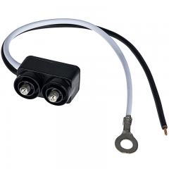Right Angle 2-Pin Male Plug for Trailer Lights and Truck Lights