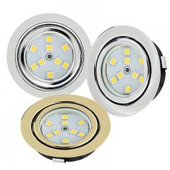"2.5"" Recessed LED Puck Lights - 15 Watt Equivalent - 140 Lumens"