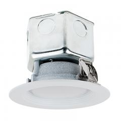 "4"" LED Retrofit Downlight - Recessed Downlight with Junction Box and Baffle Trim - 60W Equivalent - Dimmable - 650 Lumens"