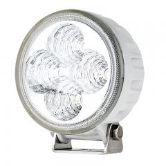 "LED Auxiliary Light - 3.25"" Round 12W Heavy Duty Off Road Driving Light with White Finish - 534 Lumens"