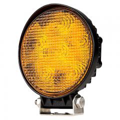 Round Amber LED Vehicle Strobe Light w/ Built-In Controller - 18 Watt