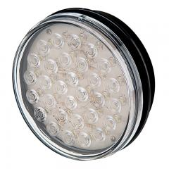 "Round LED BackUp Truck and Trailer Light - 4"" LED Reverse Light - 3-Pin Connector - Flush Mount -"
