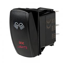 Weatherproof LED Rocker Switch - Side Lights Switch