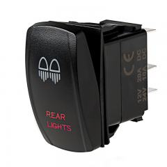 Weatherproof LED Rocker Switch - Rear Lights Switch