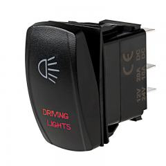 Weatherproof LED Rocker Switch - Driving Lights Switch