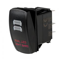 Weatherproof LED Rocker Switch - Dual LED Light Bars Switch